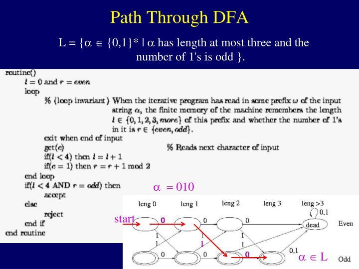 Path Through DFA