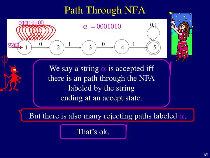 Path Through NFA