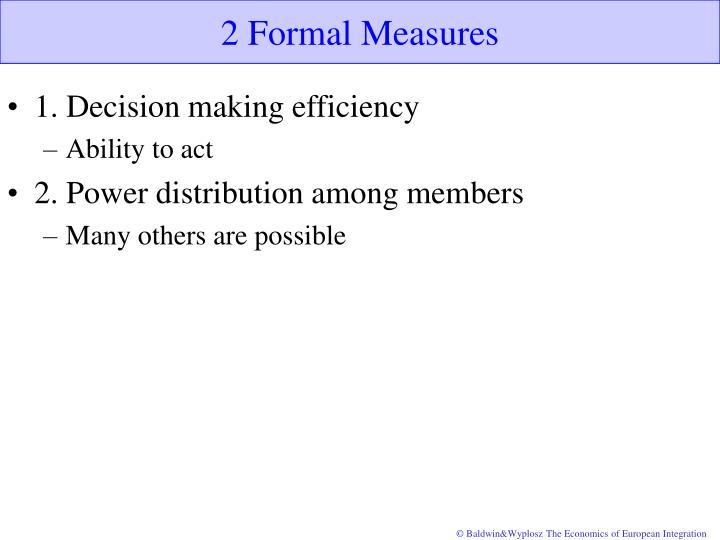 2 Formal Measures