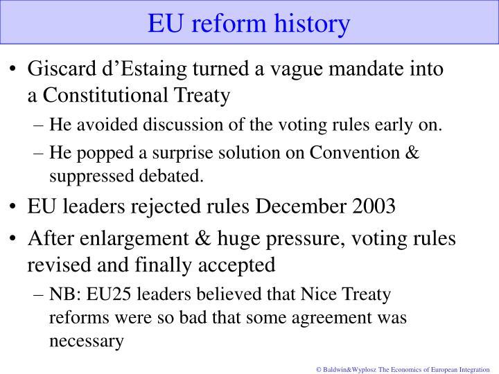 EU reform history