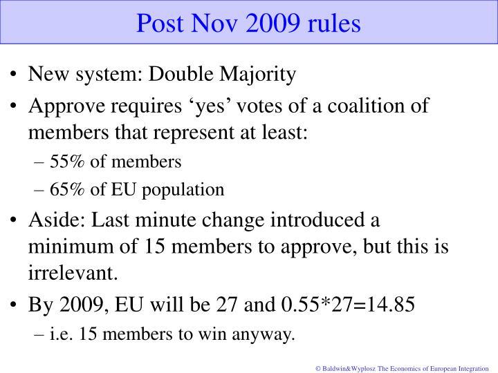 Post Nov 2009 rules