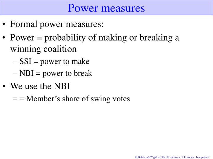 Power measures