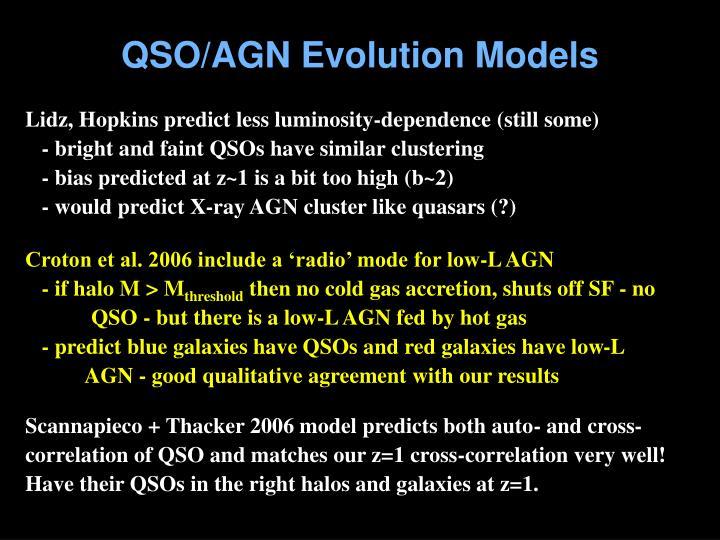 QSO/AGN Evolution Models