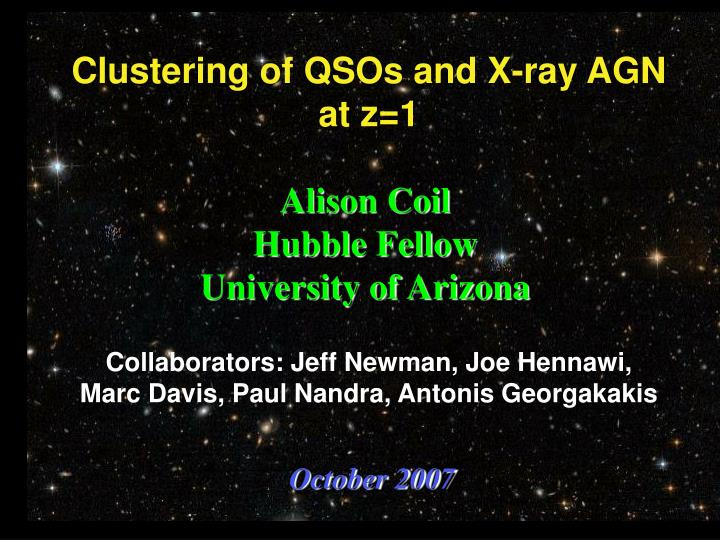 Clustering of QSOs and X-ray AGN at z=1