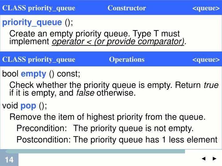 priority_queue