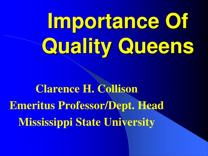 important of quality Quality is a very important parameter which differentiates an organization from its competitors the article discusses about the need and importance of quality management for smooth functioning and growth of an organization.