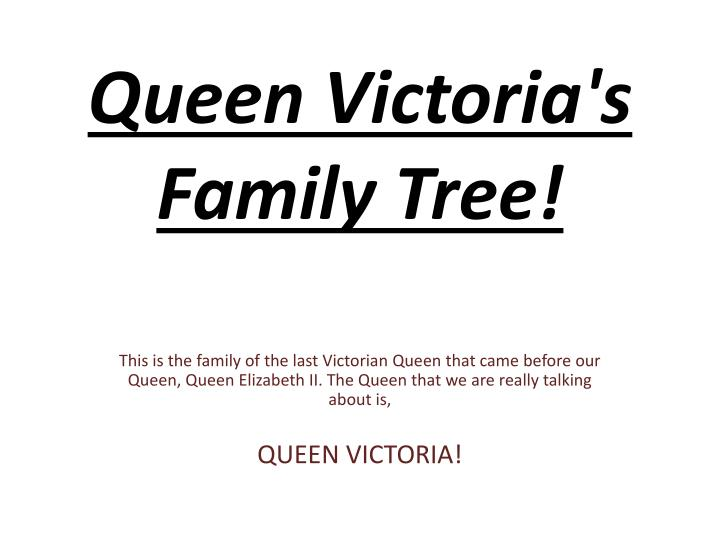 queen victoria s family tree n.