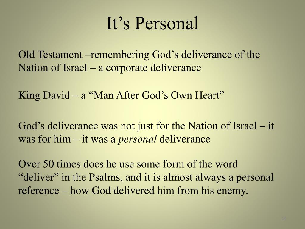 PPT - People of the Word Lesson 21 Deliverance Remembered Psalms 18