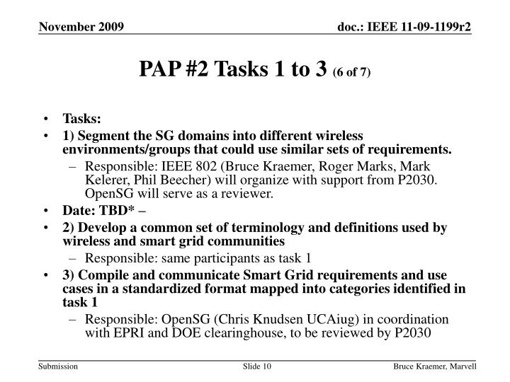 PAP #2 Tasks 1 to 3