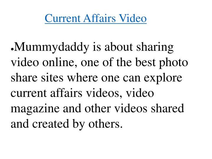 Current Affairs Video