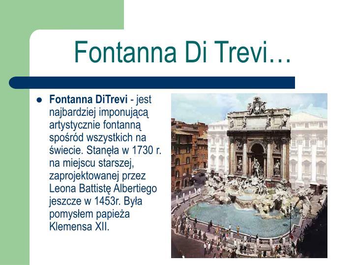 Fontanna DiTrevi
