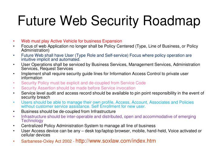 Future Web Security Roadmap