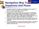 navigation way to happiness and peace