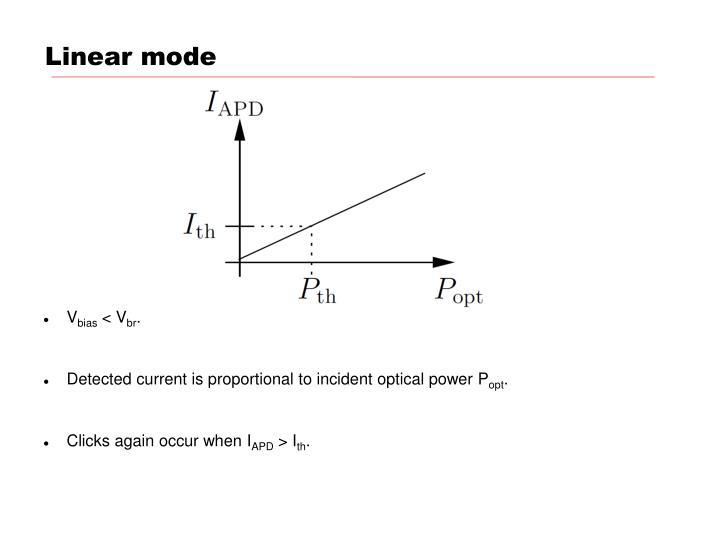 Linear mode