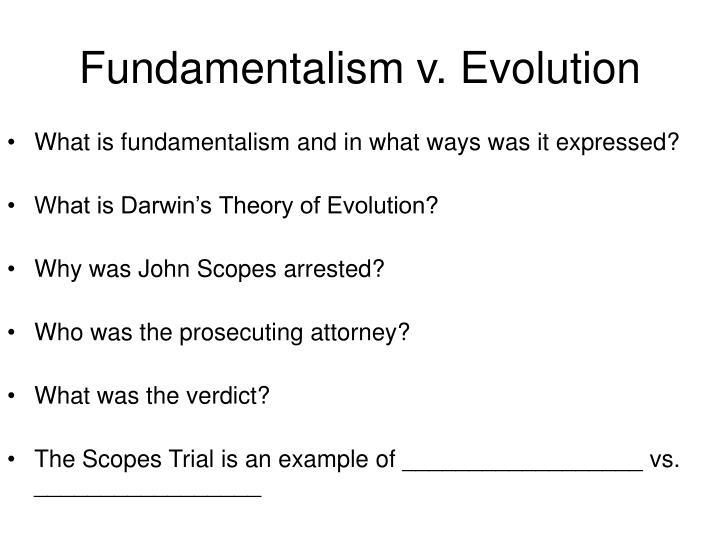 Fundamentalism v. Evolution