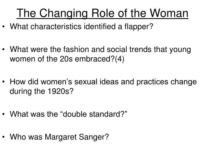 The Changing Role of the Woman