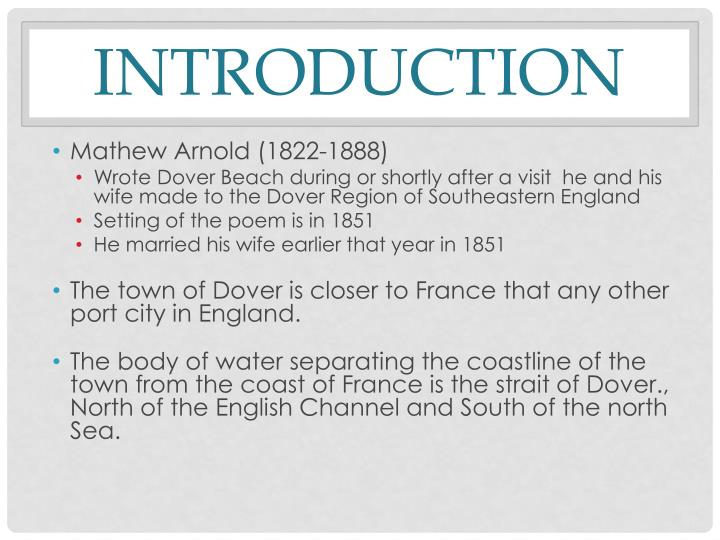 dover beach as a victorian poem