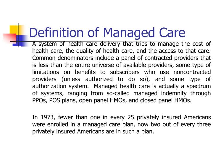Ppt referral and authorization process in the managed care.