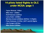 14 pilots listed flights in olc under ncsa page 1