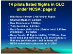14 pilots listed flights in olc under ncsa page 2