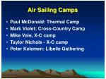 air sailing camps
