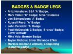 badges badge legs
