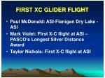 first xc glider flight