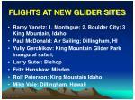 flights at new glider sites