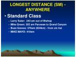 longest distance sm anywhere
