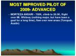 most improved pilot of 2009 advanced