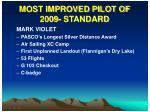 most improved pilot of 2009 standard