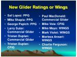 new glider ratings or wings