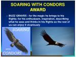 soaring with condors award