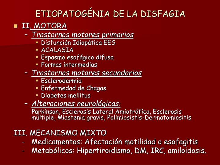 ETIOPATOGÉNIA DE LA DISFAGIA
