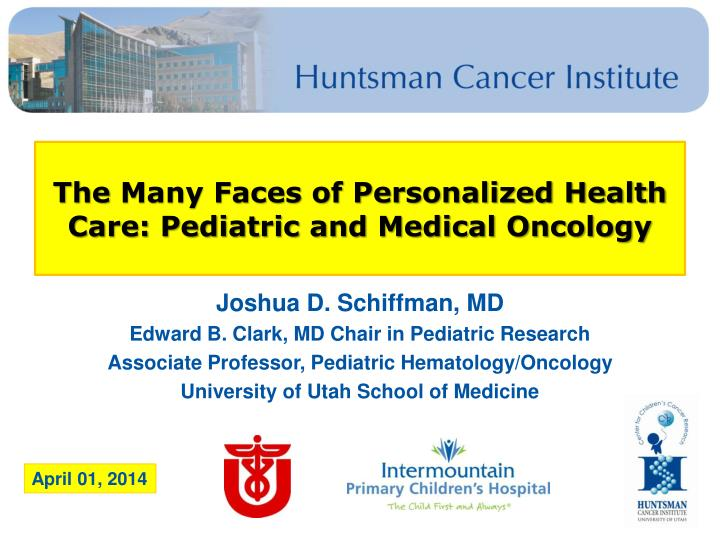 PPT - The Many Faces of Personalized Health Care: Pediatric