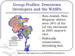 group profiles downtown developers and the wasps1