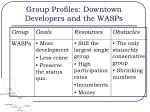group profiles downtown developers and the wasps2