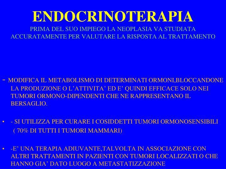 ENDOCRINOTERAPIA