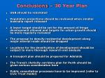 conclusions 30 year plan