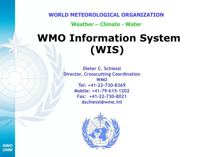 wmo information system wis n.