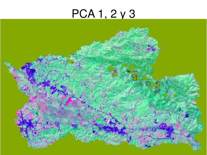 PCA 1, 2 y 3