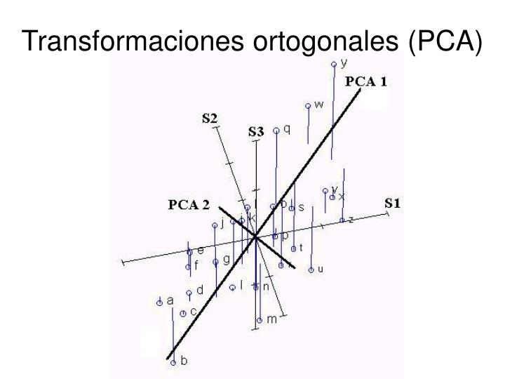 Transformaciones ortogonales (PCA)