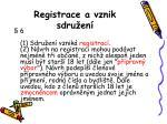registrace a vznik sdru en
