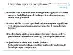 hvordan ger vi compliance