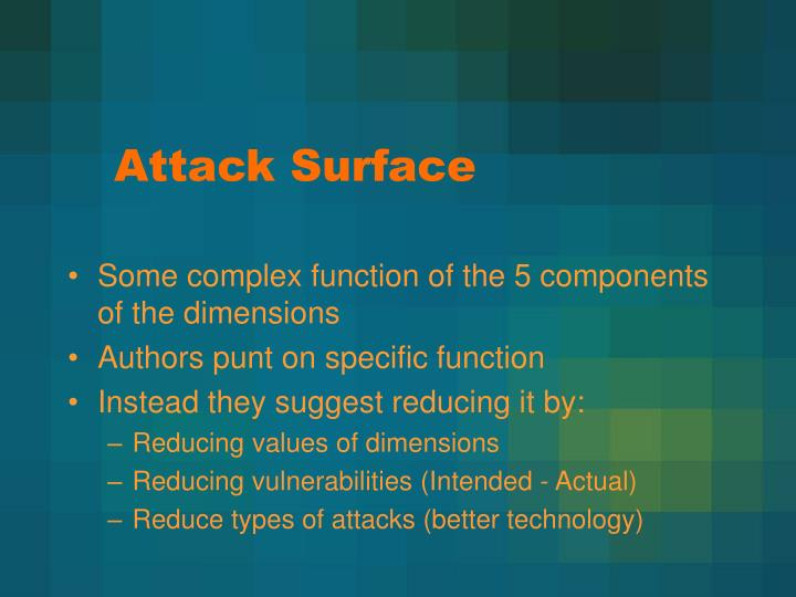 Attack Surface