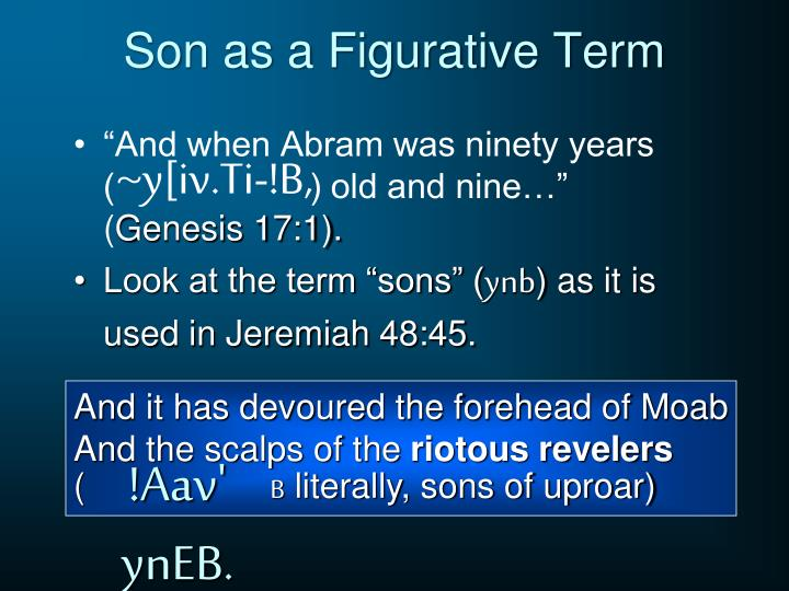 Son as a Figurative Term