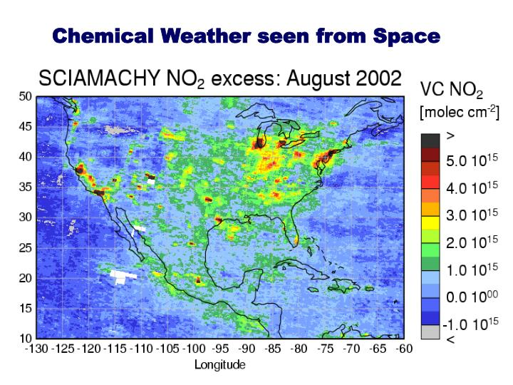 Chemical Weather seen from Space