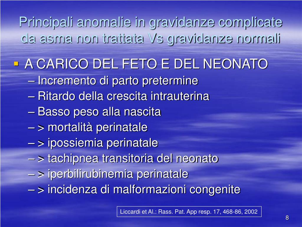 PPT - TERAPIA DELL'ASMA IN GRAVIDANZA PowerPoint..