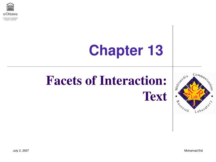 facets of interaction text n.