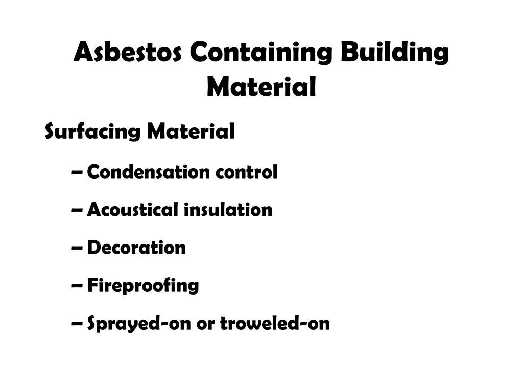 PPT - Asbestos in Schools Environmental Health and Safety